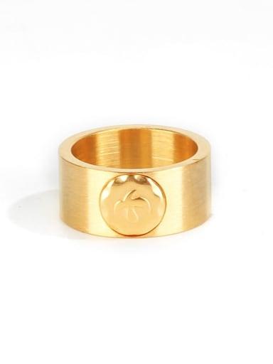 Gold (size 9) Titanium Steel Geometric Ethnic Band Ring