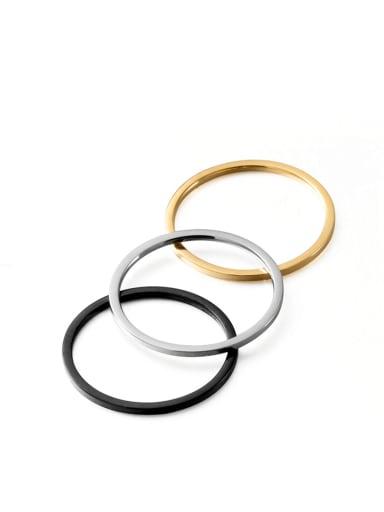 Titanium Steel Round Minimalist Band Ring
