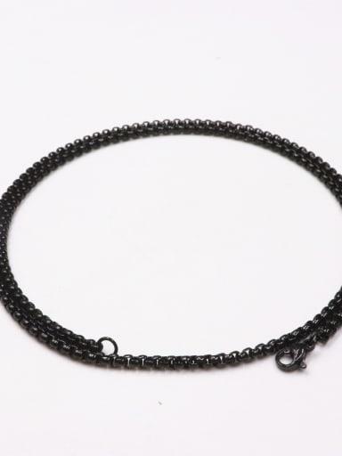 60cm black square pearl chain Brass Rhinestone Cross Vintage Regligious pendant Necklace