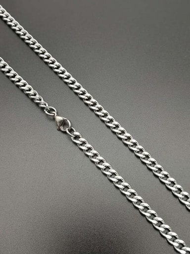 Steel color: 5mm*70cm Titanium Steel Hollow Geometric Hip Hop Cable Chain