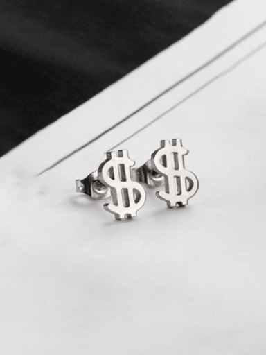 Titanium Steel Irregular Minimalist Stud Earring