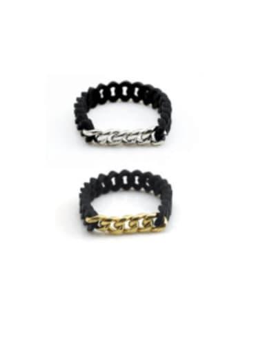 Titanium Steel Hollow Geometric Hip Hop Link Bracelet