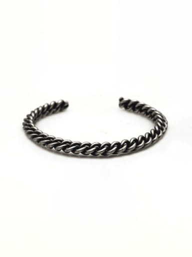 Ancient Titanium Steel Irregular Hip Hop Cuff Bangle