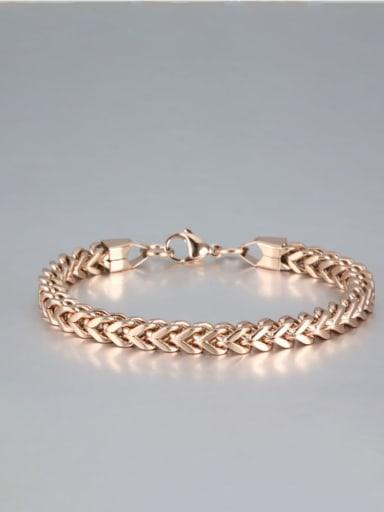 rose gold Titanium Geometric Minimalist Link Bracelet