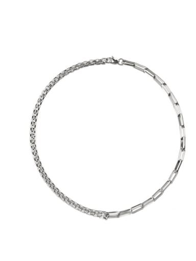 Steel Necklace (50cm +5cm) Titanium Steel Geometric Hip Hop Link Bracelet