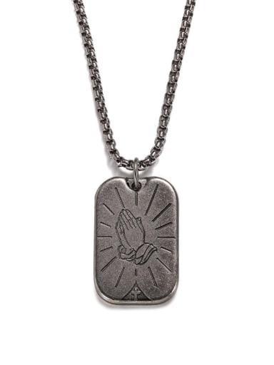 Ancient Titanium Steel Geometric Hip Hop Long Strand Necklace