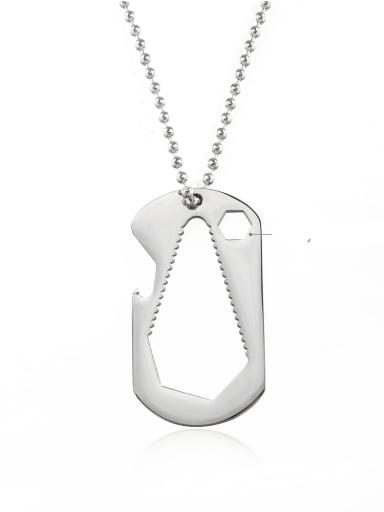 Titanium Steel Irregular Hip Hop Beaded Necklace