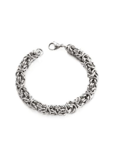 Titanium Steel Geometric Hip Hop Woven Bracelet