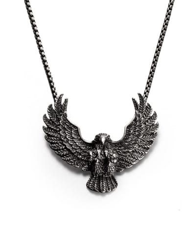 Titanium Steel Eagle Hip Hop Necklace