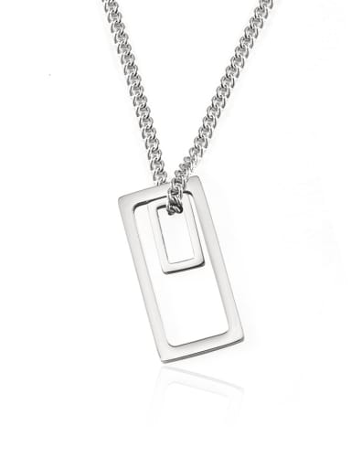 Titanium Steel Geometric Minimalist Long Strand Necklace