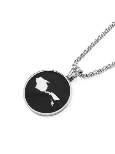 Titanium Steel Acrylic Geometric Hip Hop Necklace