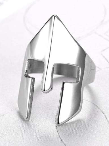 Stainless steel Mask Geometric Vintage Band Ring