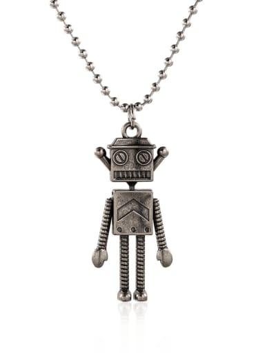 Alloy Irregular Robot Hip Hop Necklace