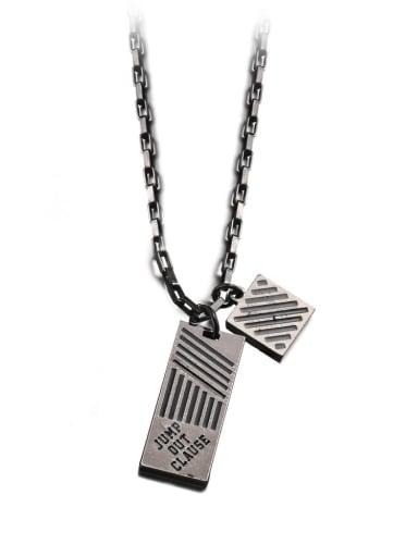 Ancient Titanium Steel Geometric Hip Hop Necklace