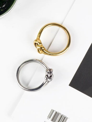 Titanium Steel Bowknot Vintage Band Ring