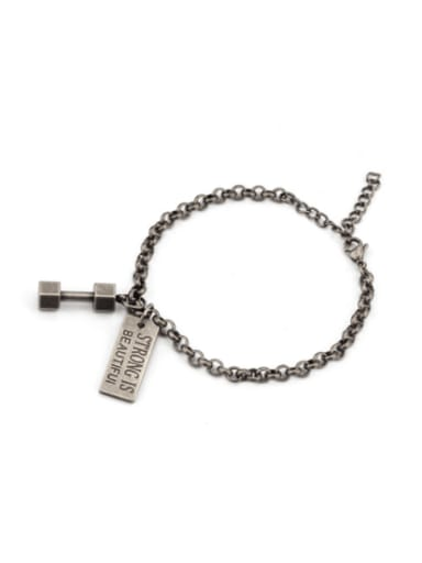 St long dumbbell Bracelet Titanium Steel Irregular Bohemia Link Bracelet