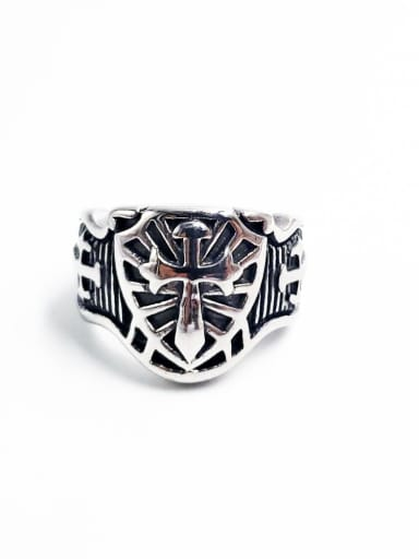 Stainless steel Cross Vintage Band Ring