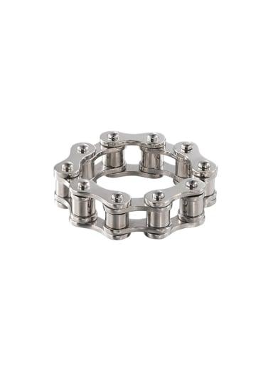 Steel color Titanium Steel Irregular Vintage Band Ring