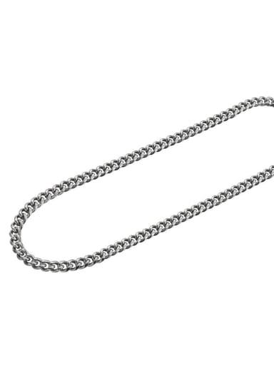 Steel color (8mm*45cm) Titanium Steel Geometric Minimalist Necklace