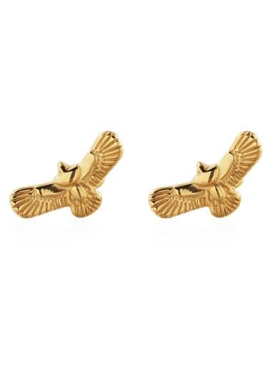Gold (pair) Titanium Steel Eagle Vintage Stud Earring