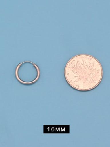 Outer diameter 16mm (one pair) Titanium Steel Round Minimalist Huggie Earring