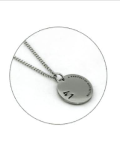 Steel color (chain length 60cm) Titanium Steel Geometric Hip Hop Long Strand Necklace