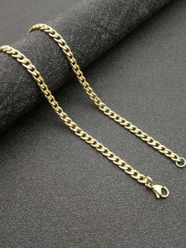 4.4mm*61cm Titanium Steel Rhinestone Cross Vintage Regligious Necklace