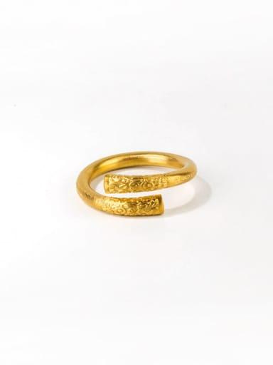Gold (6) Titanium Steel Irregular Hip Hop Band Ring