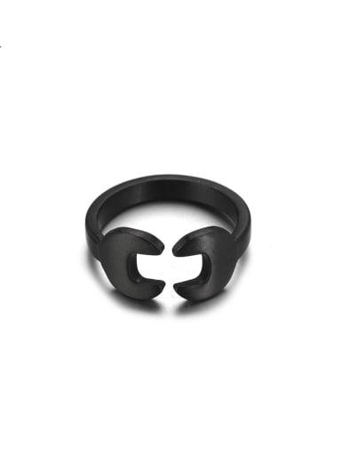 Titanium Steel Irregular Minimalist Band Ring