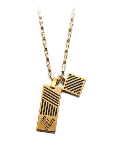Titanium Steel Geometric Hip Hop Necklace