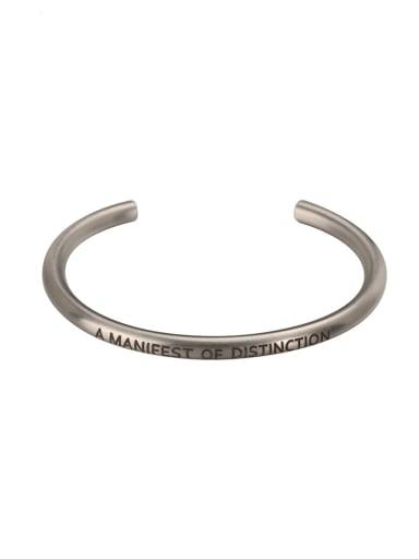 Titanium Steel Round Hip Hop Cuff Bangle