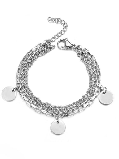 Titanium Steel Irregular Hip Hop Strand Bracelet
