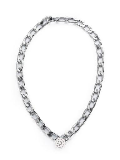 Necklace 42cm Titanium Steel Geometric Hip Hop Necklace