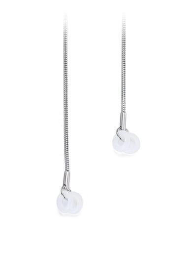 Steel color Titanium Steel Resin Irregular Minimalist Necklace