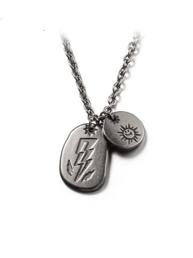 Titanium Steel Geometric Hip Hop Long Strand Necklace