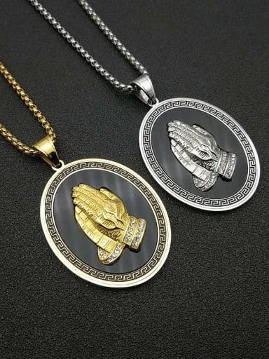 Titanium Steel Religious Vintage Regligious Necklace