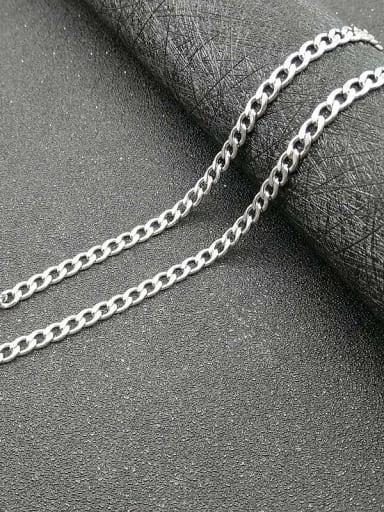 steel:4.4mm*61cm Titanium Steel Geometric Hip Hop Cable Chain For Men
