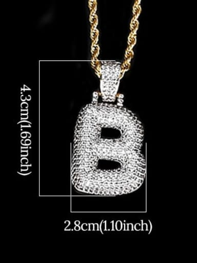 B 24In 61cm twist chain t20i02 t20a02 Brass Cubic Zirconia Message Hip Hop Necklace