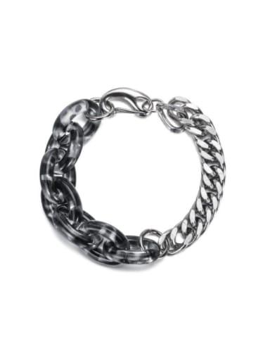 Titanium Steel Acrylic Geometric Vintage Link Bracelet