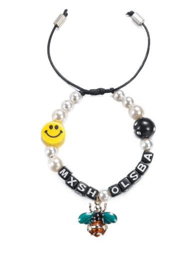 Alloy Enamel Smiley Bohemia Adjustable Bracelet