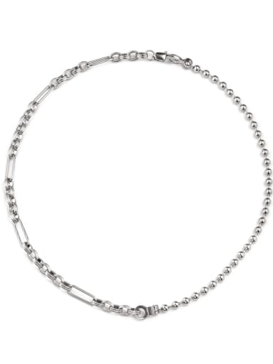 Titanium Steel Bead Geometric Hip Hop Necklace