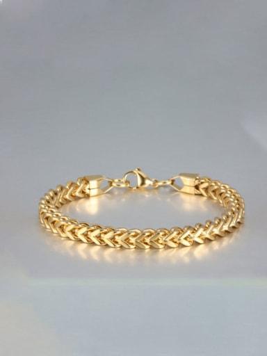 golden Titanium Geometric Minimalist Link Bracelet