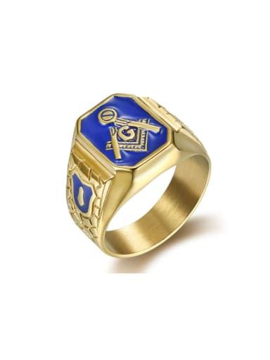 Titanium Irregular Vintage Band Ring