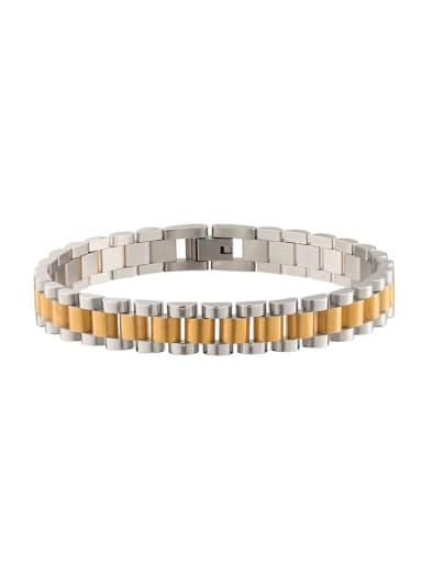 Room gold Titanium Steel Geometric Minimalist Link Bracelet