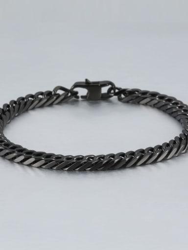 Black (0.6cm wide) Titanium+smooth Minimalist Chain