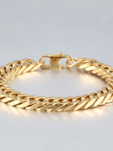 Gold (1cm wide) Titanium+smooth Minimalist Chain