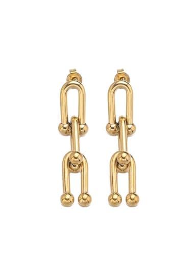 Titanium Steel Geometric Minimalist Chandelier Earring