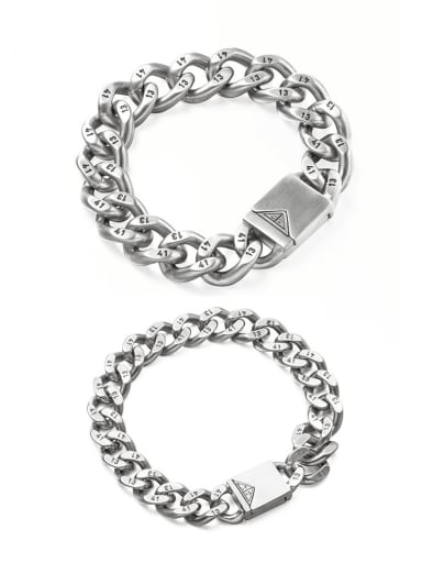 Titanium Steel Irregular Vintage Link Bracelet