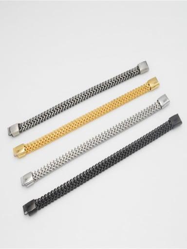 Titanium Steel Geometric Chain Hip Hop Link Bracelet