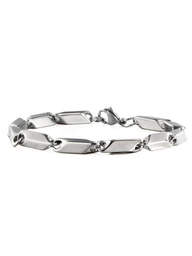 Titanium Steel Irregular Hip Hop Bracelet